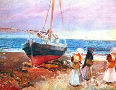 Fisherwomen on the Beach, Valencia Artist: Joaquín Sorolla Completion Date: 1903