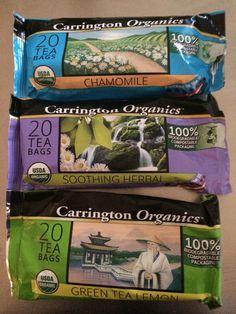 @Carrington Farms debuts #AshleyKoffApproved #Organic Teas - Chamomile, Sooting Herbal, and Green Tea Lemon