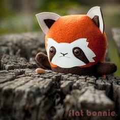 Panda rouge peluche animal Firefox jouet petit Panda par FlatBonnie