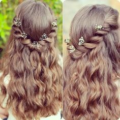 5 Latest Best Braided Fishtail Hairstyles to Inspire You braided hairstyles adored with flowers loose twisted half up half down haristyles