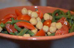 insalata di fagiolini e ceci