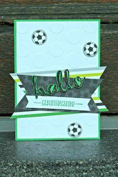 by Keksie: Fußballkarte, Geburtstagskarte, Geburtstag, Junge, Fußball, hallo, SAB,