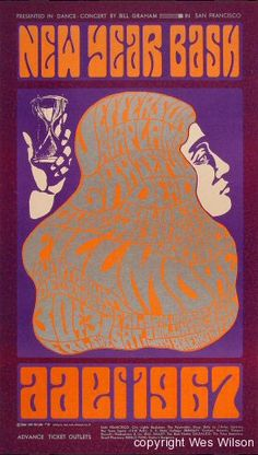 Wes Wilson posters | Wes Wilson, New Year Bash, 1966