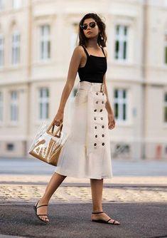 Utility skirt, summer style