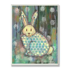 Stupell Industries The Kids Room Distressed Woodland Rabbit Wall Plaque