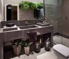 Banheiros e lavabos com cubas esculpidas quais modelos e fotos para inspirar