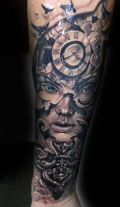 """wasted time"" TATTOO STUDIO Nadelwerk WELS (AUSTRIA) Tattoo by Paul Munteanu (Guest Artist)"