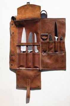 Mochila de cuero de cuchillos de chef Chef de cuero por YaelHeffer