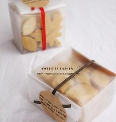 cellophane cookie packaging idea with twines | Envolturas ...