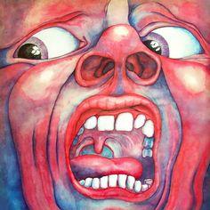 King Crimson In The Court of The Crimson King Vinyl Record LP Original 1969 Atlantic Psych Prog Rock Robert Fripp Greatest Album Covers, Rock Album Covers, Classic Album Covers, Music Album Covers, Lp Cover, Cover Art, E Drum, Rock Poster, King Crimson