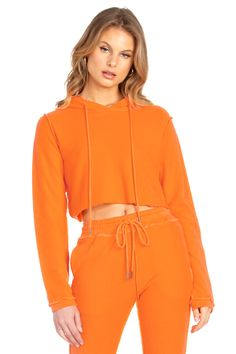 Ready for a new cropped hoodie? Shop our Knit Hoodie to show off your keen fashion sense along with the matching joggers and other must have styles now at Dance and Marvel. Clothes Women, Fashion Clothes, Fashion Outfits, Eyelet Top, Cropped Hoodie, Must Haves, Joggers, Bell Sleeve Top, Ootd