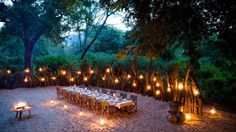 The 10 Most Amazing South Africa Safari Lodges Offering Thrilling Experiences - Fence, with lanterns