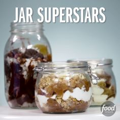 Put your Mason jars to good use with these indulgent cakes, crumbles and more.
