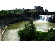 Landscape - river gorge    High Falls, Rochester, NY     So stunning, so all-natural