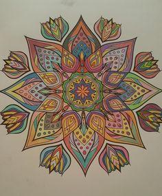 Coloriage Mandala Couleur.246 Meilleures Images Du Tableau Mandalas En Couleurs Colors