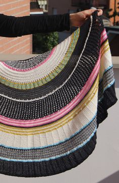 Knitting Pattern Moon Pie Shawl - #ad This colorful shawl is a multi textural wrap with many stitch patterns designed by Susan Barstein. Pictured project by Scriccio tba sampler colorful shawl