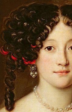Jacob Ferdinand Voet (1639–1689) c. 1675 (detail) portrait of a woman