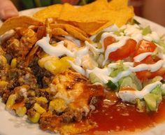 Tacogratäng med vitlöksost Tex Mex, Tacos, Ethnic Recipes, Food, Meals, Yemek, Eten