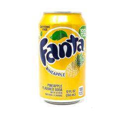 Купить Fanta Pineapple банка 355 мл — цена доставка магазин Сладкая страсть Москва