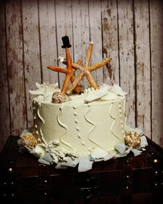 Starfish Wedding Cake TopperBeach Themed by MorganTheCreator, $27.00