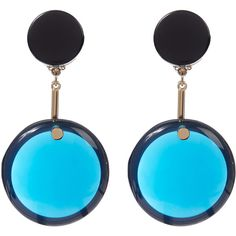 Marni Blue Resin Sphere Earrings (500,235 KRW) ❤ liked on Polyvore featuring jewelry, earrings, blue earrings, marni jewelry, marni, blue jewelry and marni earrings