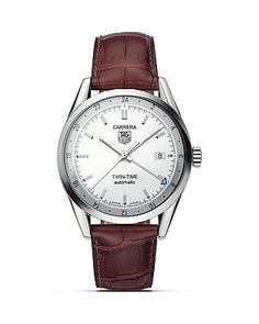 """TAG Heuer """"Carrera"""" Twin Time Watch, 39mm 