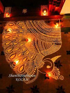 Rangoli Borders, Rangoli Border Designs, Rangoli Designs Images, Beautiful Rangoli Designs, Rangoli Designs Peacock, Rangoli Designs Diwali, Bridal Mehndi Designs, Mehandi Designs, Alpona Design