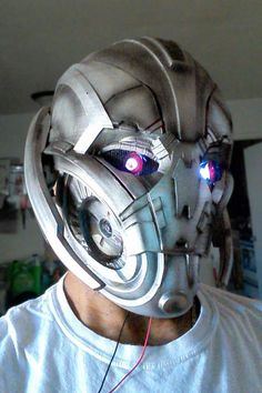 #Avengers Age of Ultron: Ultron Cosplay Mask is 3D Printed by Hero Complex Props - http://3dprint.com/62389/ultron-cosplay-mask/