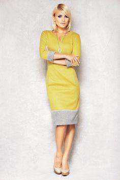 Lemon & grey dress
