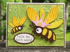 Cricut Crazy Scrapper: You're the bee's knees! card