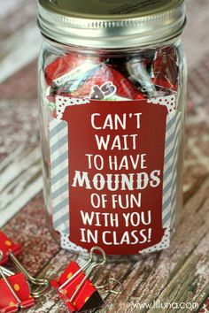 Mounds of Fun Teacher Gift - cute and easy!