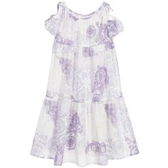 Young Versace - Girls Lilac Baroque Silk Dress   Childrensalon