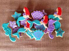 Little Mermaid Sugar Cookies | Little Mermaid - Ariel inspired | Spoonful of Sugar Cookies | Pintere ...