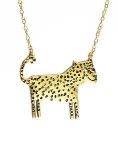 Leopard pendant necklace - cute!