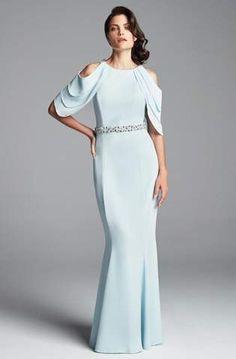 Alexander by Daymor - 701 V-Neck A-Line Gown – Couture Candy Column Dress, Perfect Prom Dress, Prom Dresses Online, Two Piece Dress, Groom Dress, Special Occasion Dresses, Designer Dresses, Short Dresses, Mob Dresses