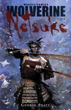 WOLVERINE: NETSUKE, SERIE LIMITADA COMPLETA DE 4 NÚMEROS, MARVEL, 2.002. USA.