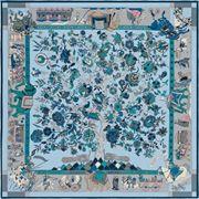 La Maison des Carrés Hermès | 140 x 140 cm scarf Fantaisies Indiennes blue