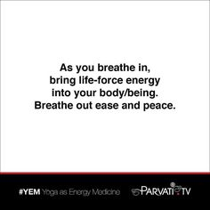 As you breathe in bring life-force energy into your body/being. Breathe out ease and peace.  YEM: Yoga as Energy Medicine infuses the body/being with consciousness. Bringing together subtle attention to yoga postural alignment mindful-breathing meditations and chi energy-work YEM awakens the latent intelligence within the body/being and guides practitioners more deeply into the present. It clears the bodys energy channels to tap into unlimited power and live with greater ease and peace. Find…
