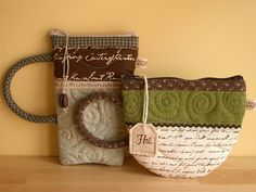 Coffee or Tea? Aren't these little purses cute?! P.S. maybe Juanita can make us each one!! ;)