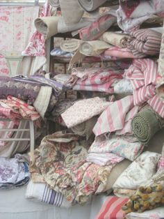 Vintage European Fabrics ~ Can I just sit on the floor and look at all these fabrics?