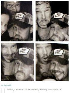 Tom Hardy & Benedict Cumberbatch (Source…