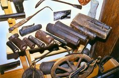 Parts of a private collection of early firearms and accessories.