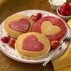 Valentine's Day *Food* - Heart Cut-Out Pancakes