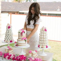 I am absolutely loving these gorgeous images that I received today from my gorgeous client Melanie at her recent Bridal Shower  Semi Naked Cake & Mini Semi Naked Cakes by @allthingssweetbycarissa Photography by Outlook Photography Strawberry & Macaron Towers by @macaron_delights  Hair by @hairbybernadette  Make Up by Ryan Farrajota #allthingssweetbycarissa #bridalshower #bridalshowercake #seminakedcake #nakedcake #mininakedcake #miniseminakedcakes #cakessydney #buttercreamcake