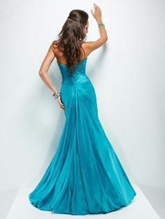 Mermaid Sweetheart Taffeta Floor-length Beading Prom Dresses