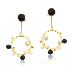 DOT COLLECTION ! #earrings#gold#polkadot #dot #spot #jewelry #accessories #style #dots www.designmariadolores.com.br