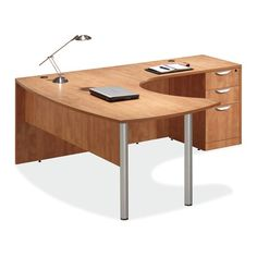 L-shape Laminate Desk. Modern laminate desk series, available in many configurations: single desk units, L shape, and U shape available. Sleek design with high pressure laminate, easy to re-configure Small Office Furniture, Executive Office Furniture, L Shaped Office Desk, L Shaped Desk, Contemporary Office Desk, Contemporary Design, L Shaped Coffee Table, Martin Furniture, Furniture Ideas