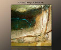 DESIGNBILDER- WANDBILD abstrakt modern zeitlos Wohnzimmer Kunst - 80x80cm   Möbel & Wohnen, Dekoration, Bilder & Drucke   eBay!