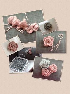 Het haken van een roosje. http://knoff-je.blogspot.nl/2013/01/het-haken-van-een-roosje.html