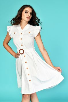 White dress for your office look White Summer Outfits, Office Looks, Daily Look, Timeless Fashion, White Dress, Womens Fashion, Casual, Shirts, Dresses